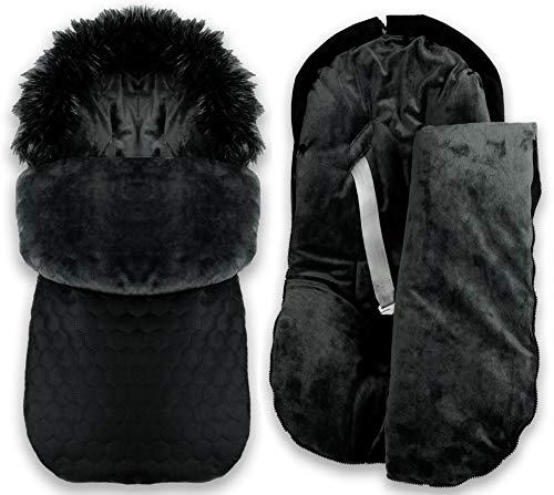 BlueKitty Fußsack, 0-16 kg, Winterfußsack, Kinderautositz, Kinderwagensack, Schlafsack, Wasserdicht, Wasserabweisend, Winter, Herbst, 85 cm