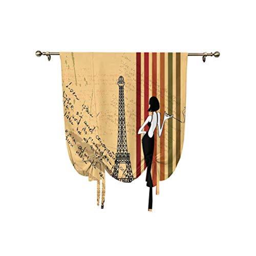 Paris City Decor - Parasol para ventana, diseño de mujer con estampado de cigarrillos, estilo retro, con aislamiento térmico, 95 x 107 cm, para ventanas del hogar