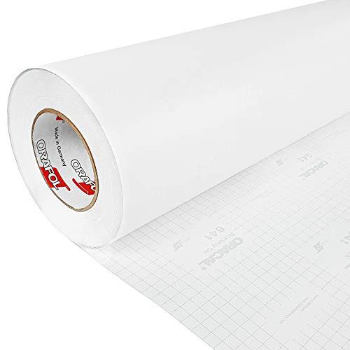 DecoMeister Klebefolie Deko-Folie Selbstklebefolie Selbstklebende Möbelfolie Einfarbig Einheitliche Farbe Fertigrolle 100x200 cm Weiß Matt