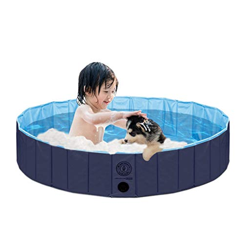 KOPEKS Piscina Extra Grande Infantil Ideal para Niños/Mascotas Perros 160 x 30 cm - Azul Marino y Celeste - XL - XXL