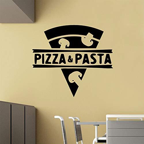 Pizza Pasta Vinyl Aufkleber Pizzeria Aufkleber Kunst Wanddekoration Küche Aufkleber Poster43cm X 48cm