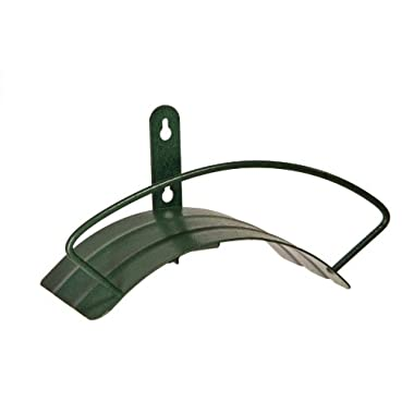 Yard Butler Deluxe Heavy Duty Wall Mount Hose Hanger Easily Holds 100' Of 5/8' Hose Solid Steel Extra Bracing And Patented Design In and DECORATIVE DESIGNS IHCWM-1 Textured Forest Green