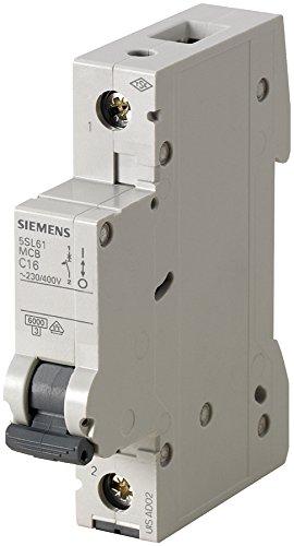 Siemens Sicherungsautomat Leitungsschutzschalter 5SL6110-7 10A Typ C 1-polig 6KA 230/400V 1 Stück