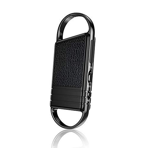 Mini Grabadora de Voz de 16GB con Reproducción, Grabadora Espia con Activación de Voz y Carga USB - Grabadora de llavero Portátil para Lecciones, Reuniones, Conversaciones, Aprendizaje