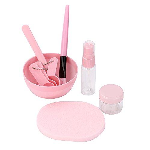 Ensemble de maquillage de maquillage de bâton de cuillère de brosse de bol de mélange 9 en 1 pour l'outil facial