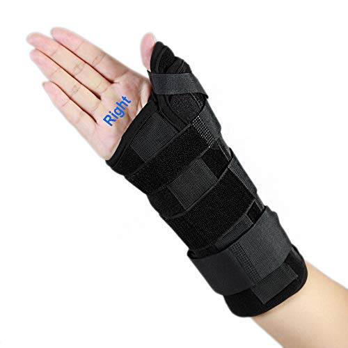 Wrist Brace with Thumb Spica Splint De Quervain's Tenosynovitis, Carpal Tunnel Pain Wrist & Thumb Stabilizer for Tendonitis, Arthritis, Sprains & Fracture Forearm Support Cast(Right, Medium/Large)