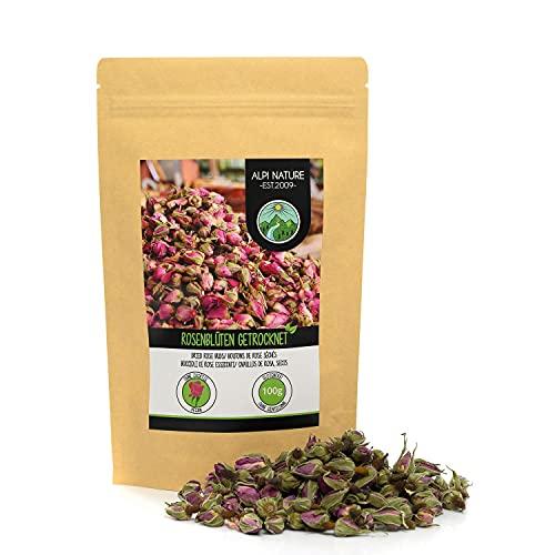 Pétalos de rosa secos (100g), capullos de rosa secos, té de pétalos de rosa de floración controlada, té de capullos de rosa