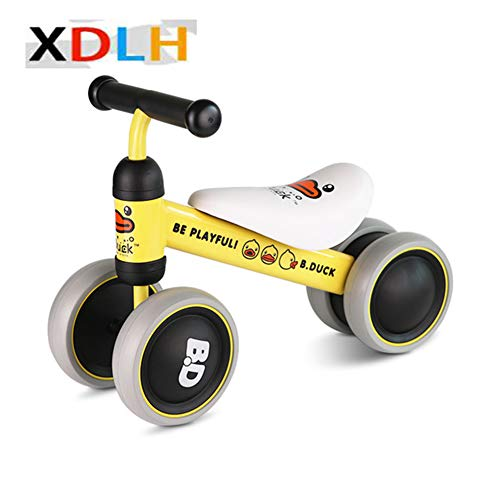 XDLH Baby Orange Balance Bikes Fahrrad Kinder Walker 5-24 Monate No Foot Pedal Infant Four Wheels Toddler Bike First Birthday Gift für 1Year Old BoysGirls/Girls