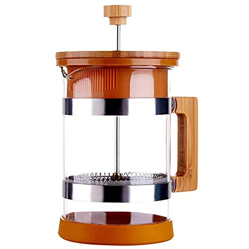 Great Price! XXDMZ French Press Coffee and Tea Maker, Wood Pressure Pot Filter Tea Pot Household Jap...