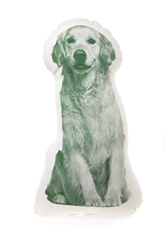 Kissen Fauna mini Golden Retriever green