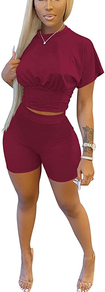 Two Piece Discount mail order shorts sets , Tracksuit Crop Women Top Biker and Ranking TOP7