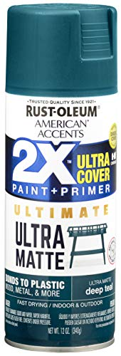 Rust-Oleum 328397 American Accents Spray Paint, 12 Oz, Ultra Matte Deep Teal