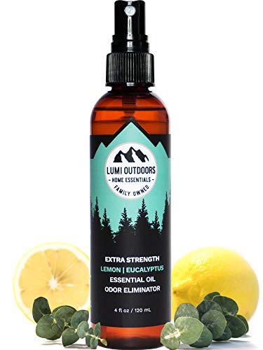 Natural Shoe Deodorizer Spray, Foot Odor Eliminator and Air Freshener - Organic Lemongrass, Mint, Tea Tree Essential Oils