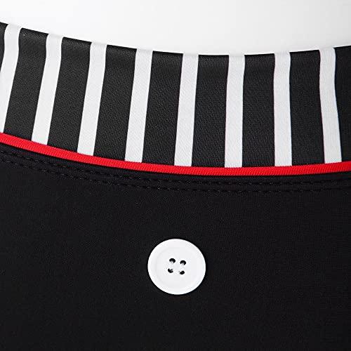 Booolavard® Vintage Push Up Bikini im Retro Rockabilly Style in schwarz/rot/weiß Größen S M L oder XL (S (34-36)) - 4