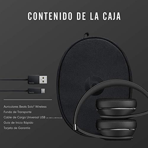 BeatsSolo3Wireless - Auriculares supraaurales - Chip Apple W1, Bluetooth de Clase1, 40horas de sonido ininterrumpido - Negro miniatura