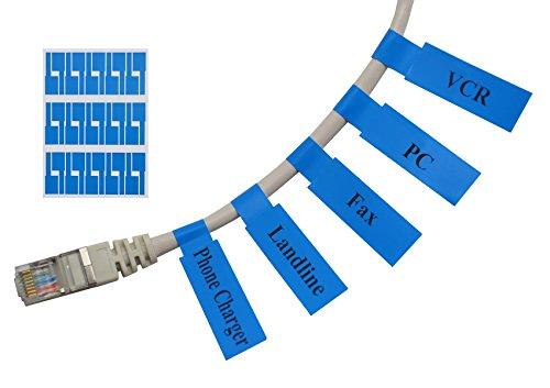 Meta-Label® (20 Blatt, 600 Etiketten) Blau Selbstklebend Kabeletikett - Wasserdicht | Reißfest | Haltbar - mit Online Drucken Werkzeug - Für Laserdrucker