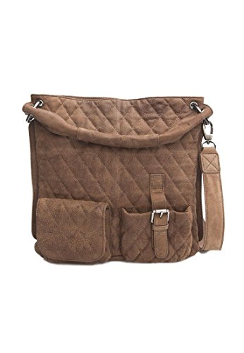 Schuhtzengel Tasche PALOMA Cracked Brown