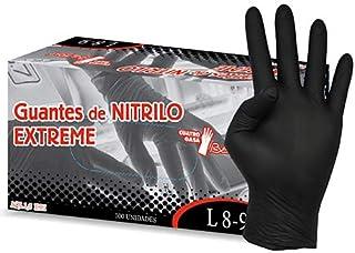 Guantes de nitrilo negro Extreme. Caja 100 uds. Talla Peque