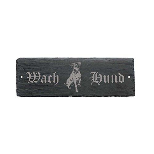 wetterfestes Schild « WACHHUND JACK RUSSEL TERRIER » Türschild Hund 22 x 8 cm - Hund Dog