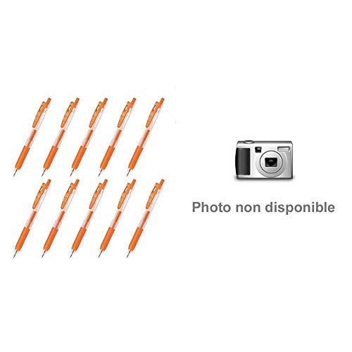 【セット買い】ゼブラ ジェルボールペン サラサクリップ 0.5 ネオンオレンジ 10本 B-JJ15-NOR & 蛍光ペン マイルドライナー 親しみマイルド色 5色 WKT7-N-5C