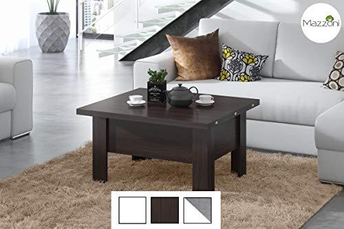 Mazzoni Design Couchtisch Tisch Oslo höhenverstellbar 49 / 76cm ausziehbar 90 / 180cm Esstisch (Walnuss Wenge)