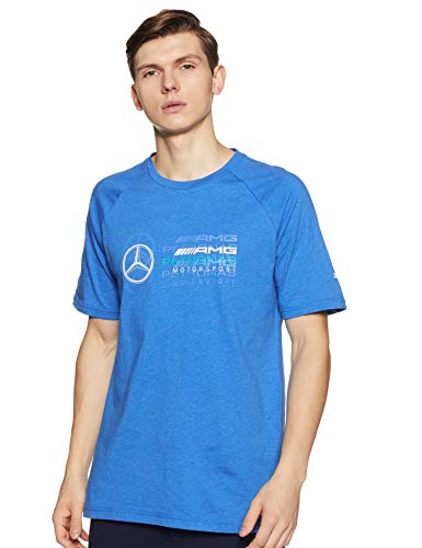 MERCEDES AMG PETRONAS Herren Mercedes Amg Logo Tee, XXL T-Shirt, Blau (Lightblue Lightblue), (Herstellergröße: XX-Large)