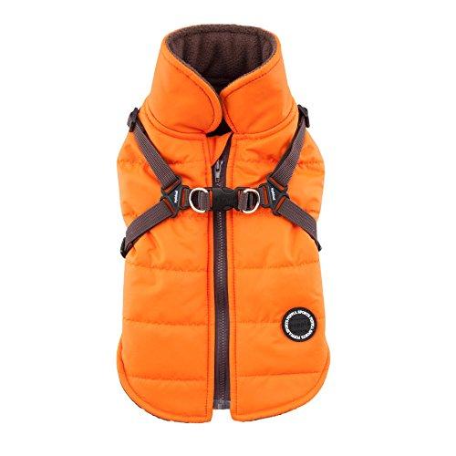 Puppia Mountaineer II Winter Vest, Large, Orange