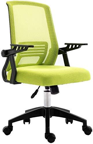 WANGXIAOYUE Silla de Ordenador decorativosMesh Silla de Oficina Ajuste de la Parte Posterior de la Espalda apoyabrazos Silla de Rodillas (Color : Green)