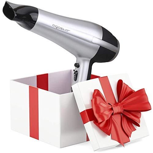 Aigostar Secador profesional de pelo en color plateado y negro con difusor y accesorios. 2200 watios. Diseño exclusivo de Aigostar.