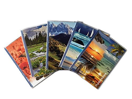 10 Album a Tasche 13X19 per 400 Foto (40 Foto Cad.) con Memo, Copertina Morbida Personalizzabile, CLEAR 13X19/20