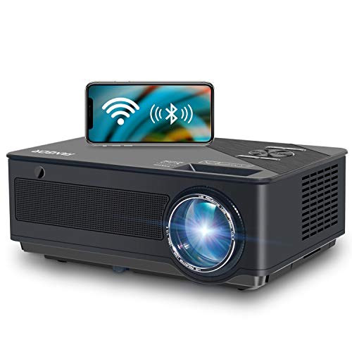 Native 1080p Full HD Projector, WiFi Projector, Bluetooth Projector, FANGOR 6500 Lumens/250 Display/ Contrast 8000: 1 Full HD Theater Projector with Wireless Mirror to iPhone/Ipad/Android Phones