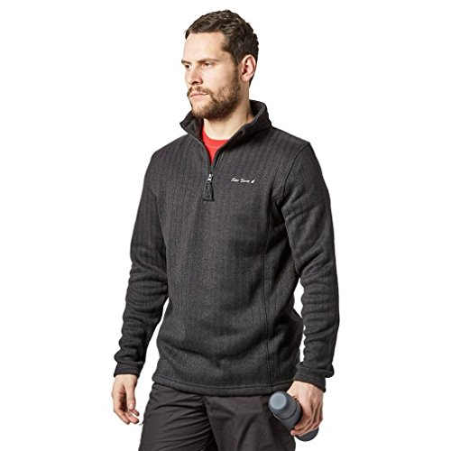 PETER STORM Mens Kendal Half Zip Fleece Vêtements de Plein air, Noir, S