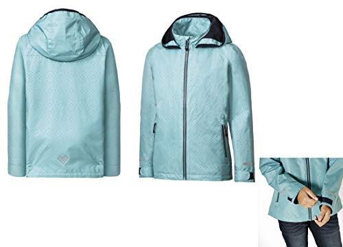 Crivit Mädchen Regenjacke Übergangsjacke Jacke spring jacket transitional jacket Atmungsaktiv Winddicht und wasserdicht (134)