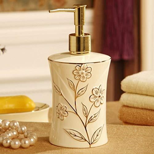 Europese Luxus Royal Court keramiek badkamer 5 stuks/set, tandenborstelhouder, mondschaal, zeepdispenser, badkameraccessoireset Dispenser