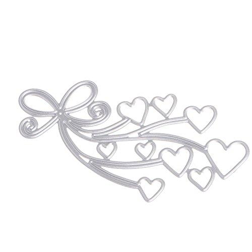 Metal Cutting Dies Heart Paper Cutting Dies Stencil Frame Metal Template DIY Card