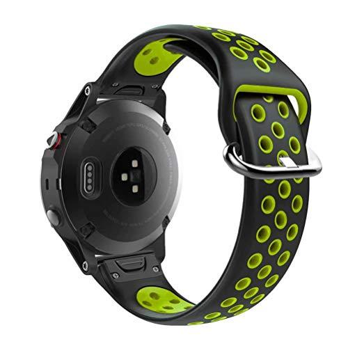 T-BLUER Watch Band Compatible for Garmin Fenix 5s Bracelet,Accessoire de Courroie de Bracelet en Silicone Respirant Compatible pour Garmin Fenix 5s /Fenix 5s Plus