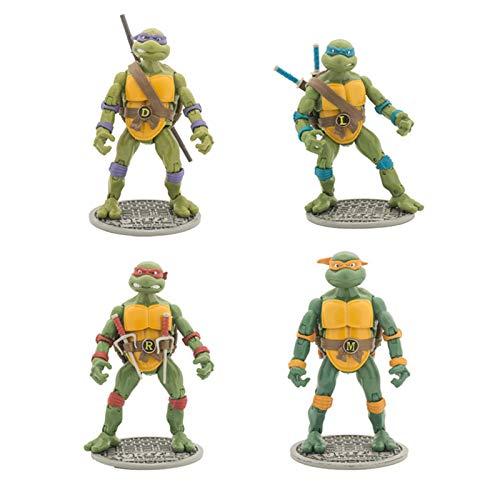 Adolescente mutante ninja tortuga tortuga figuras de 4 piezas conjunto anime carácter modelo juguetes ninja tortugas acción figuras conjuntos regalo y colección para ventiladores 18 cm tortugas ninja