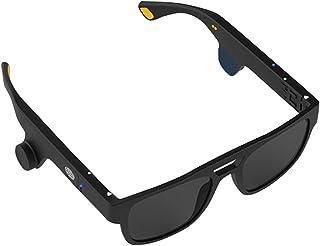 Gafas de conducción ósea Wireless Bluetooth Smart Audio Call Gafas de sol Control de voz Polarizado Anti-UV Impermeable Ciclismo Running Auriculares para IOS Android