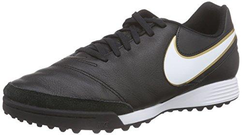 Nike Herren Tiempo Genio Ii Leather Tf Fußballschuhe, Schwarz (Black/White-Metallic Gold), 39 EU
