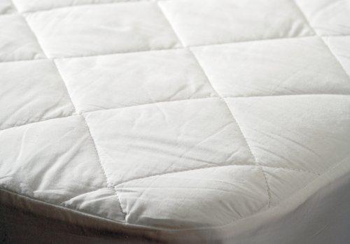 Belledorm Protège-matelas en coton Protection d'écran, blanc, double