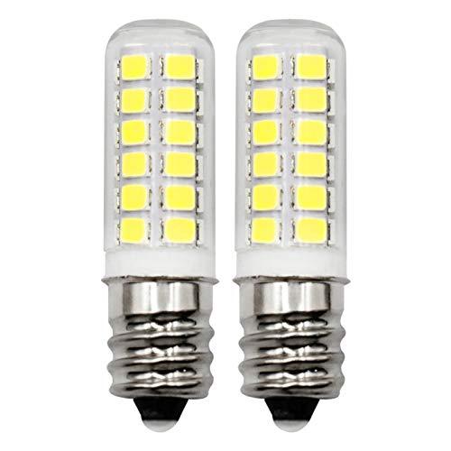 E12 Candelabra Dryer Bulbs Fridge Water Dispenser Light 120V 10W 15W 20W Replacement, 2W C7 LED Daylight White 6000K for Small Appliance Parts, Salt Lamp, Chandelier, Pack of 2