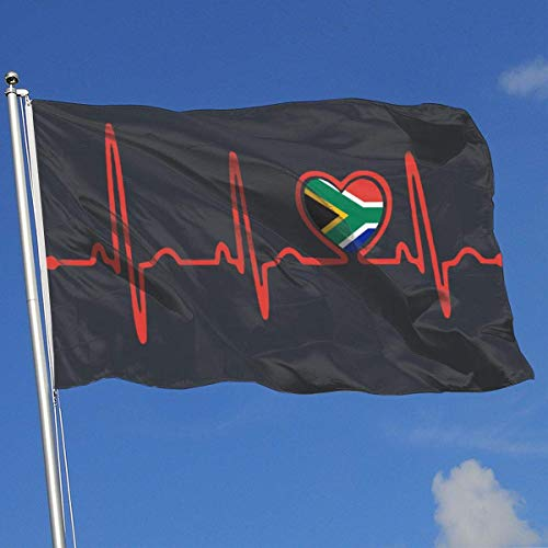 ShiHaiYunBai Flagge/Fahne, Outdoor/Home Demonstration Flag South African Flag Heartbeat Pride 100% Polyester Single Layer Translucent Flags (3 X 5 Foot)