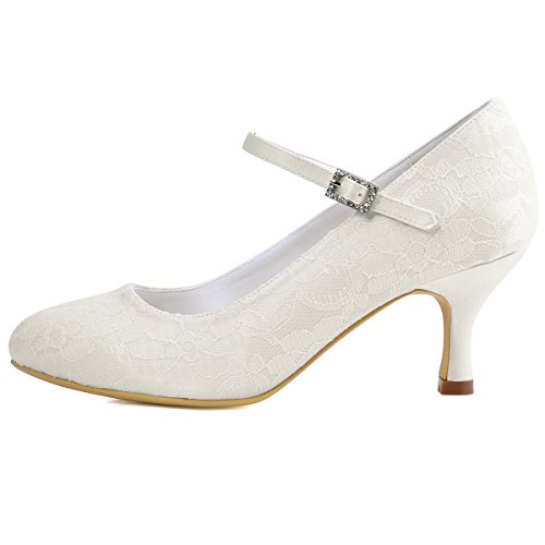 Elegantpark // Brautschuhe Stiletto // Runde Geschlossene (Ivory oder Weiß) - 2