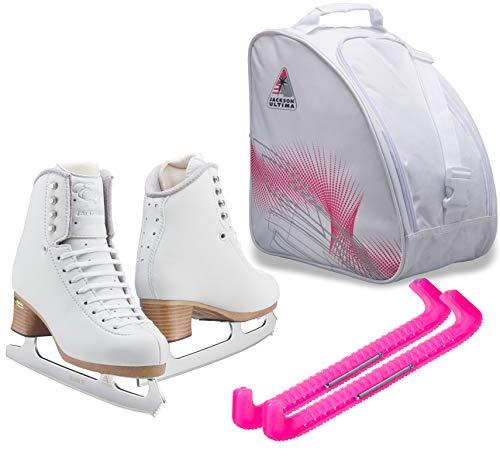 SKATE GURU Jackson Ultima – Patins de gelo EVO FS2020 / Médio a Grande/Conjunto infantil com 13 protetores de skate e bolsa