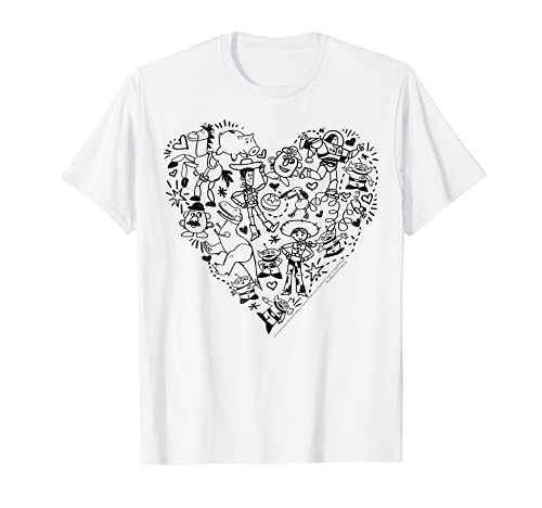 Disney Pixar Toy Story Characters Heart Fill T-Shirt