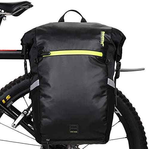 Rhinowalk Bike Bag Waterproof Pannier Bag Backpack Convertible 2 in 1 Bicycle Saddle Bag for product image