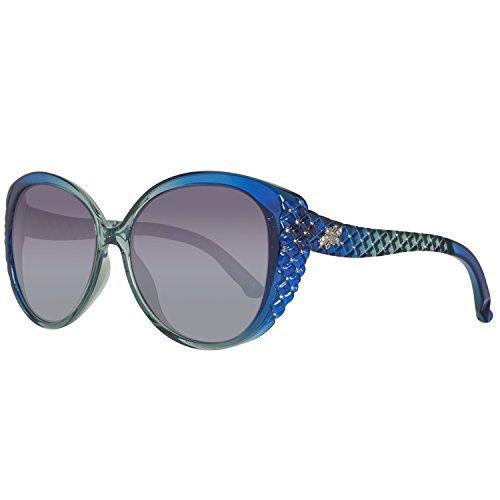 Swarovski SK0068-5890W Occhiali da Sole, Blu (Shiny Blue/Gradient Blue), 58 Donna