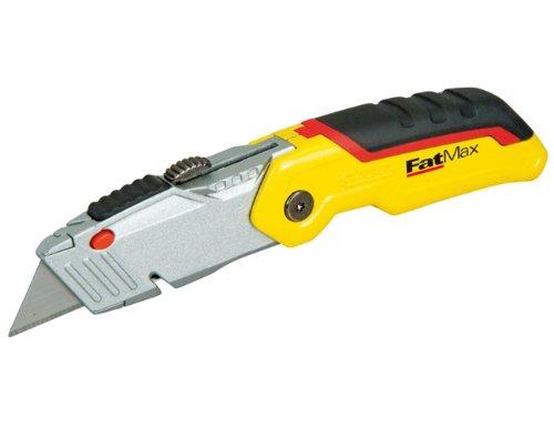 Stanley FatMax Klappmesser (mit einziehbarer Klinge, ergonomisches Design, werkzeugloser Klingenwechsel) 0-10-825
