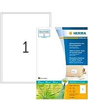 HERMA–Etiquetas para direcciones (A4(199,6x 289,1mm, papel mate 100unidades), color blanco