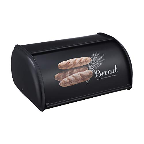Beyoung Bread Box for Kitchen Counter, Roll Top Bread Box Storage Bin Stainless, Steel Bread Box for kitchen,Metal Bread Bin,Bread Storage Bread holder
